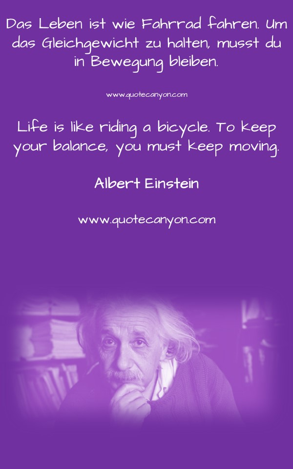 English To German Albert Einstein Quotes
