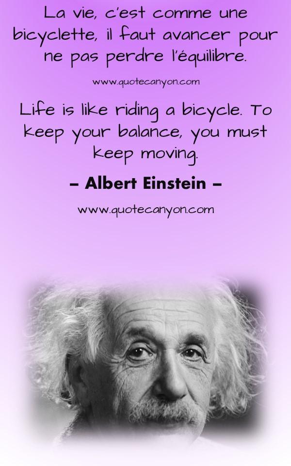 French to English Albert Einstein Quotes