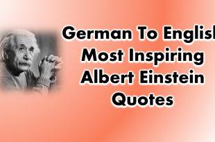 German To English Most Inspiring Albert Einstein Quotes