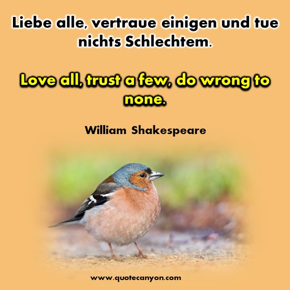 German to English quotes about friendship