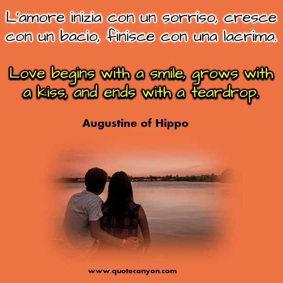 Italian Love Quotes with English Translation