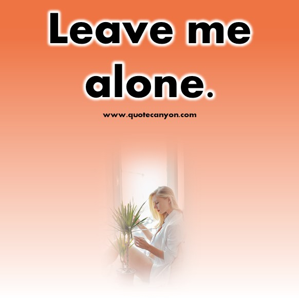 short break up quotes - Leave me alone
