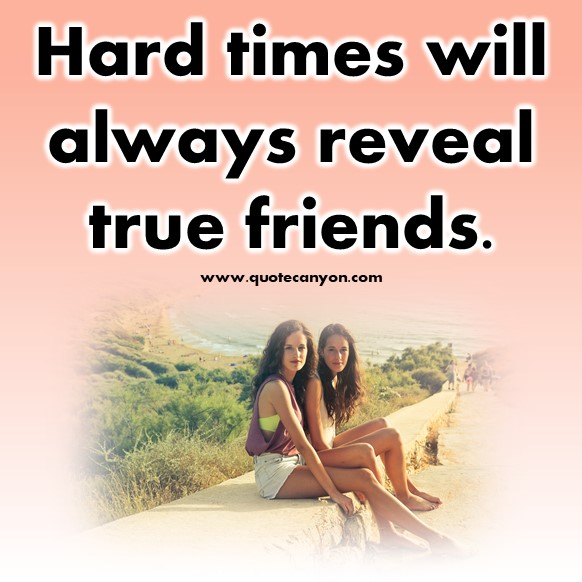 short friendship quotes - Hard times will always reveal true friends