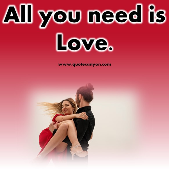 short love quotes - All you need is love