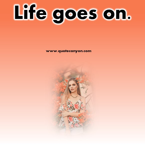 short quotes about life - Life is going on