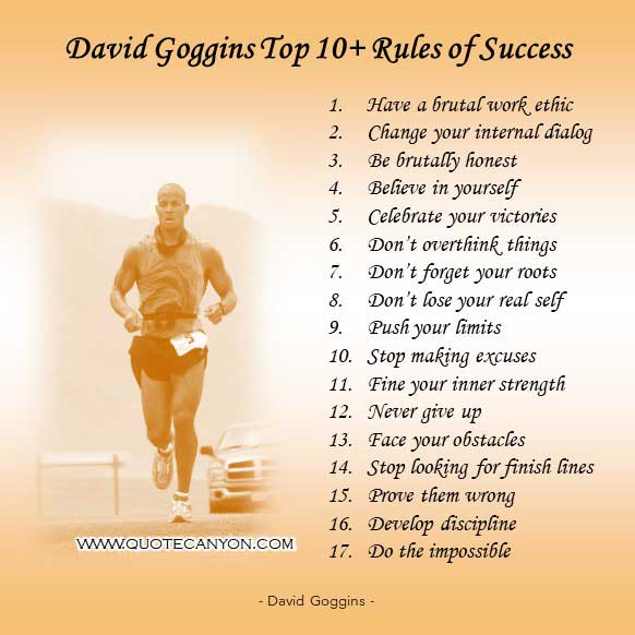 David Goggins Top 10 Rules of Success