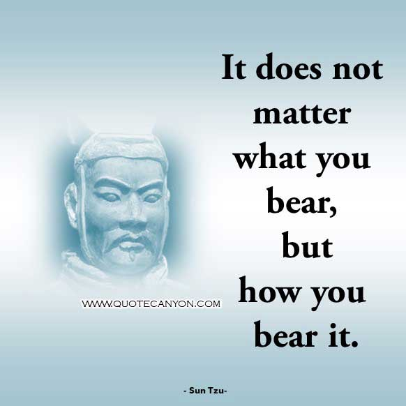 Philosophical Phrase from Sun Tzu that says Know yourself and you will win all battles
